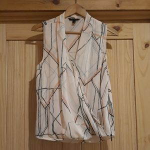 Banana Republic Drape Sleeveless Blouse. Size M.